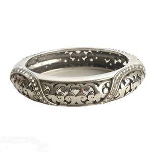 Brighton Bangle Bracelet Crystal Silver Plated
